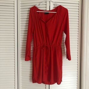 Gap dress, tomato red with pockets, XS Petite
